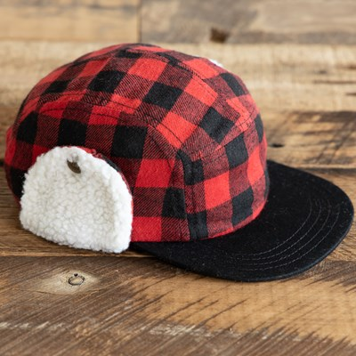 Toddler Buffalo Check Trapper Hat