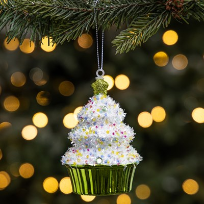Shiny Cupcake Ornament