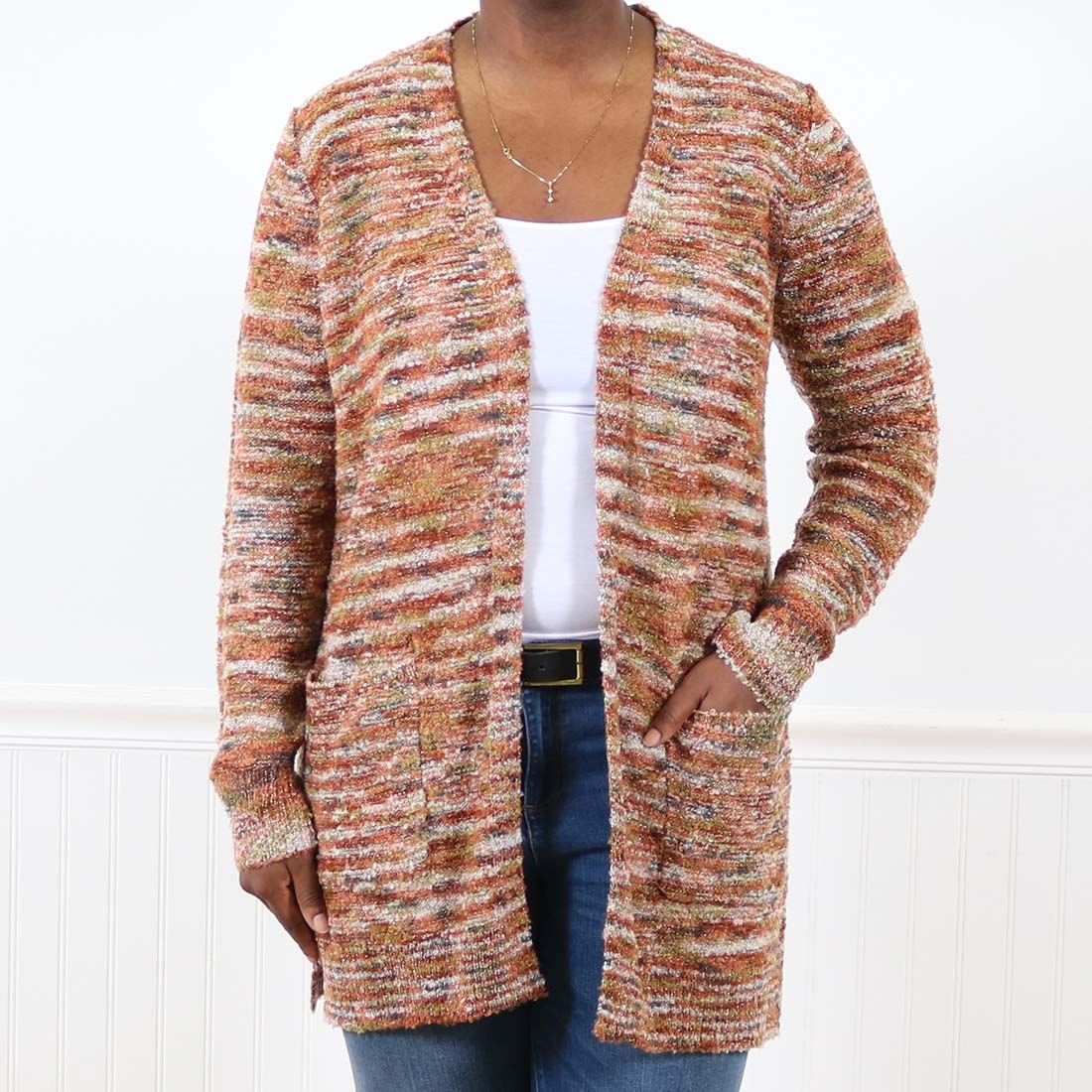 FEESON Toddler//Little Kid Cotton Embroidery Crew Neck Button up Cardigan Sweater