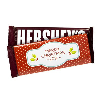 "Hershey's ""Merry Christmas"" Milk Chocolate Bars - 6 Count"