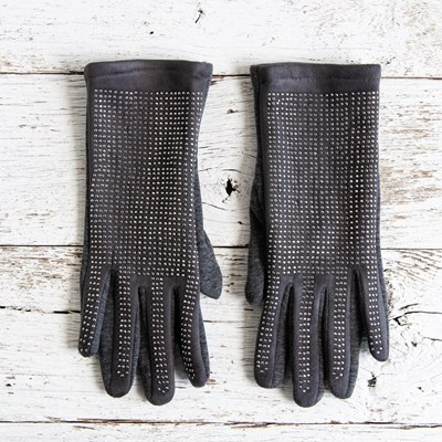 Gray Bling Gloves