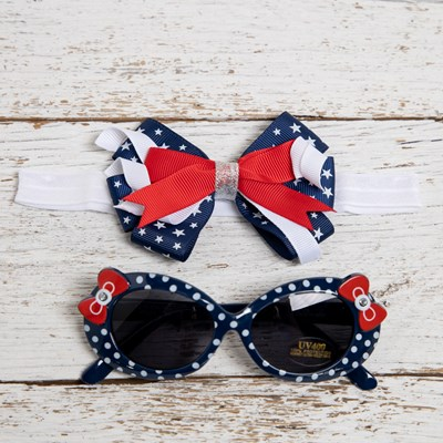 Infant Sunglasses and Headwrap Set