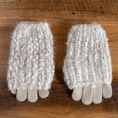 Taupe Sparkle Soft Glove