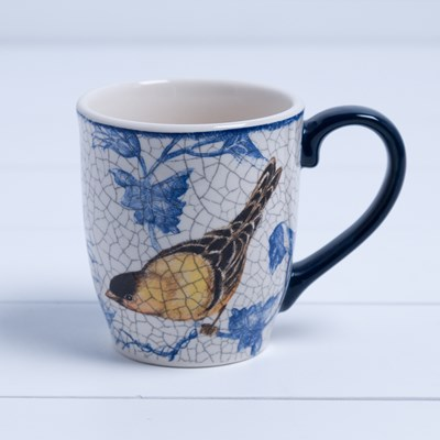 Stoneware Gold Finch Mug