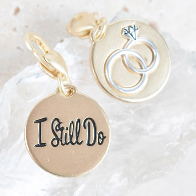 """I Still Do"" Wedding Rings Charm"