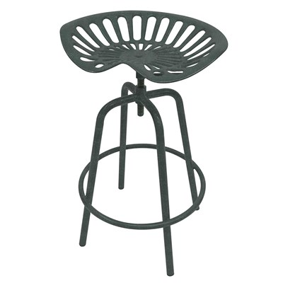 Tractor Seat Stool - Gray