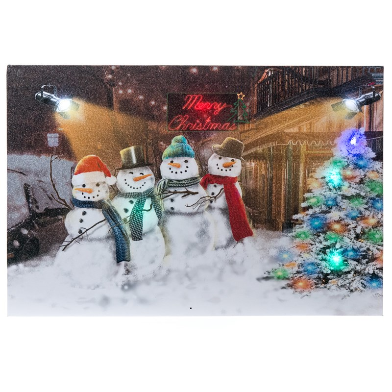 Snowman Conga Musical Led Canvas 0