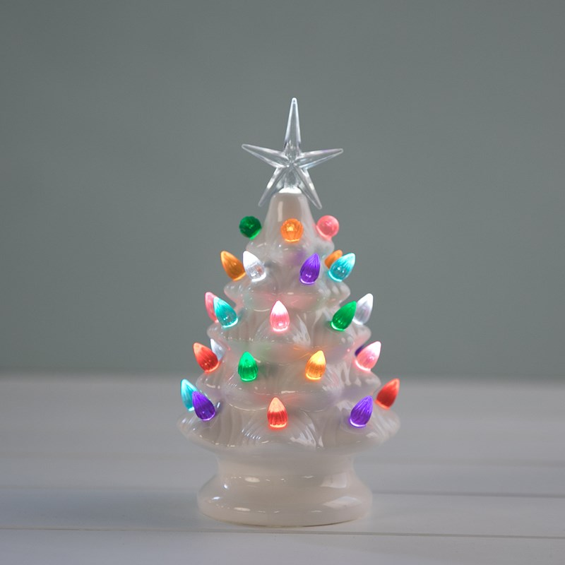 0 - LED Nostalic Ceramic Christmas Tree - Cracker Barrel Old Country Store