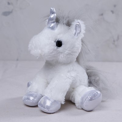 Silver Unicorn Plush