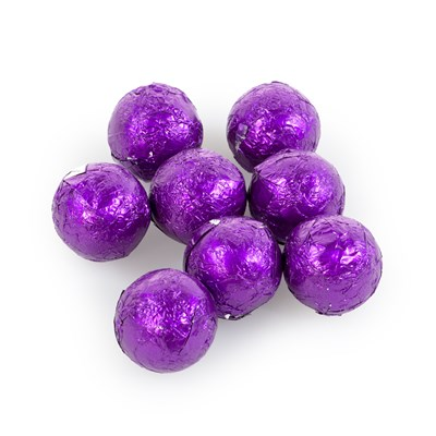 Foiled Solid Milk Purple Balls - 1lb.
