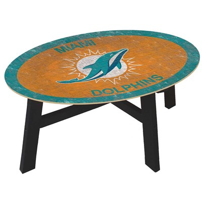 Miami Dolphins - Team Color Coffee Table