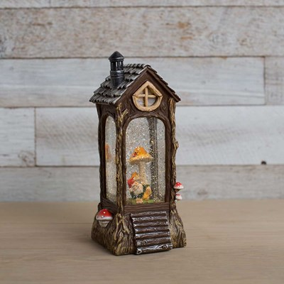Gnome House Water Globe