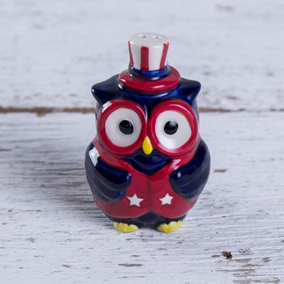 Mini Owl Salt Shaker - Stripes