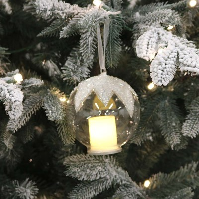 LED Candle with Iridescent Beads Ornament