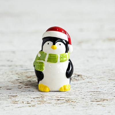 Mini Penguin with Green Scarf Pepper Shaker