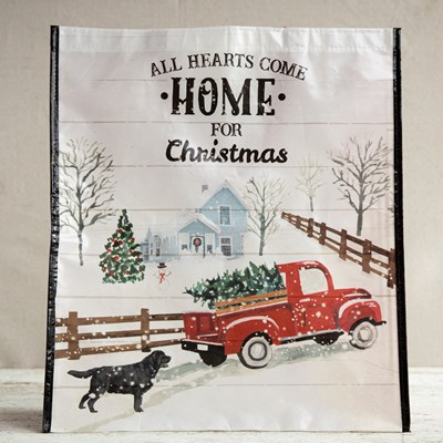 Red Truck Reusable Tote Bag