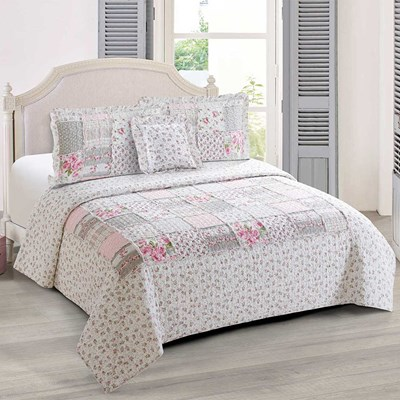 Chelsey Pink Patchwork Quilt - Full/Queen