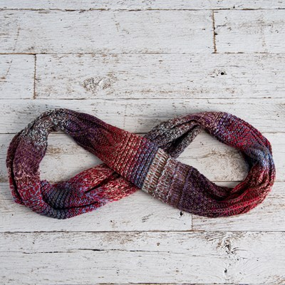 Multi Color Lurex Infinity Scarf