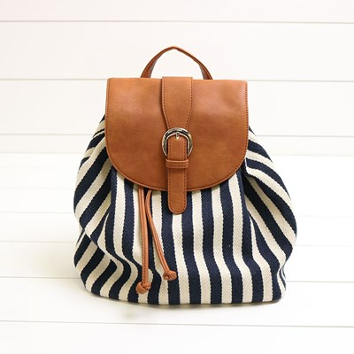 Women's Nautical Striped Backpack