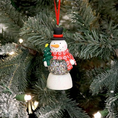 Led Snowman Water Ball Ornament