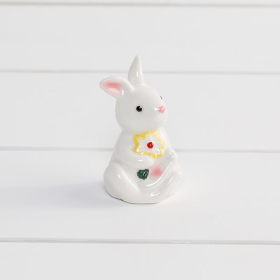 Mini Rabbit with Yellow Flower Pepper Shaker