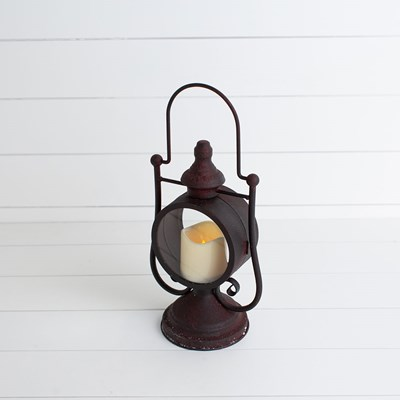 Metal Lantern with LED Candle