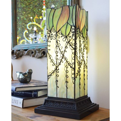 Stained Glass Vine Hurricane Lamp