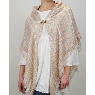 Stripe Toggle Shawl