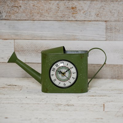 Decorative Watering Can Table Clock