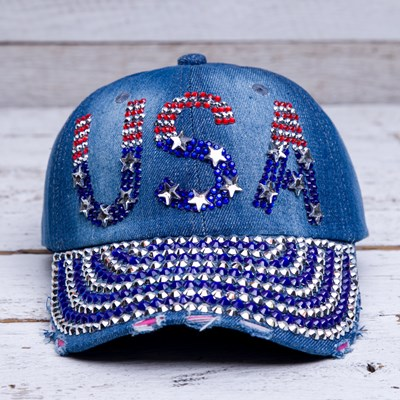 """USA"" Bling Hat"