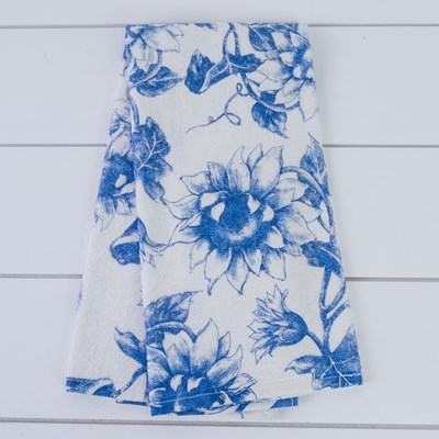 Flower Print Terry Towel