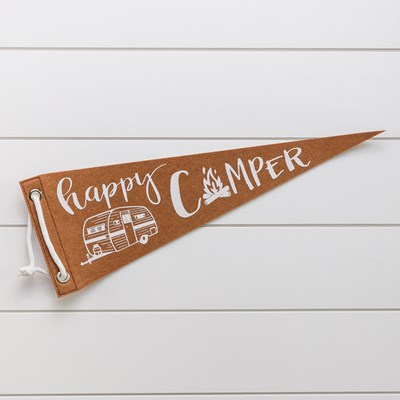 Felt Pennant Decor - Brown