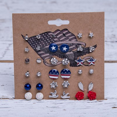 18-Piece Americana Earring Set
