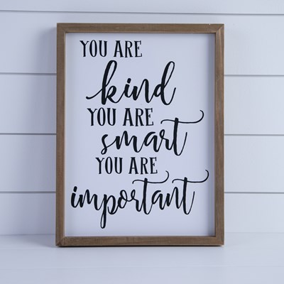 """You Are Kind"" Framed Wall Decor"