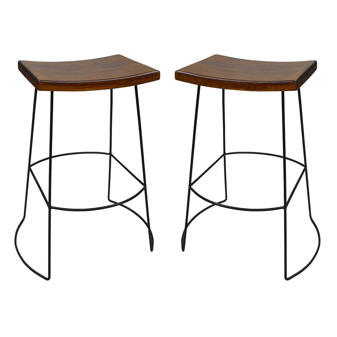 Outstanding Wyatt Saddle Seat Bar Stool Set Of 2 Beatyapartments Chair Design Images Beatyapartmentscom