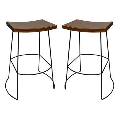 Wyatt Saddle Seat Bar Stool - Set of 2