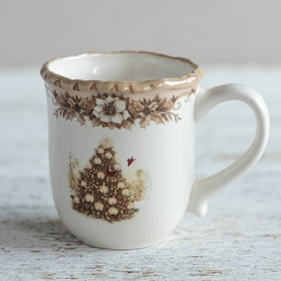 Stoneware Woodland Mug - Christmas Tree