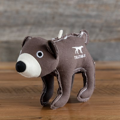 Canvas Bear Dog Toy
