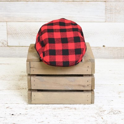 Infant Buffalo Check Cabbie Hat