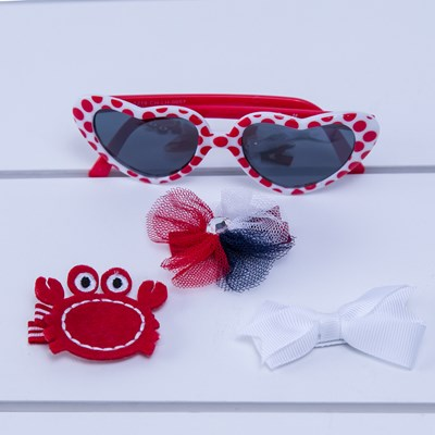Crab and Bow Sunglasses Set