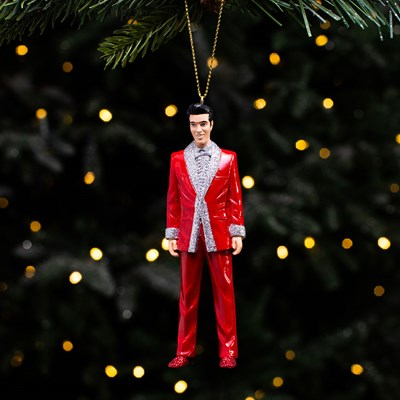 Elvis in Red Lame Suit Ornament