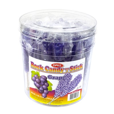 Purple Grape Rock Candy Sticks - 36 count