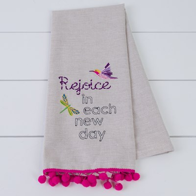 """Rejoice"" Tea Towel"