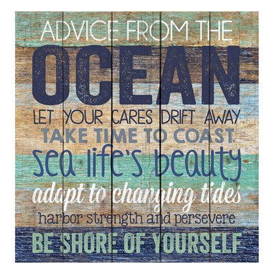 """Advice From The Ocean"" Wall Decor"