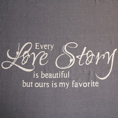 Every Love Story Jacquard Throw