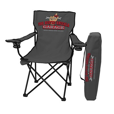 """Busted Knuckle Garage"" Portable Folding Chair"