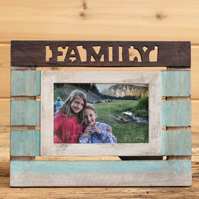 Painted Wood Photo Frame