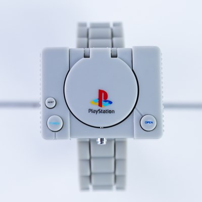 Playstation Console LCD Flip Top Watch