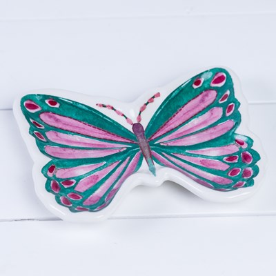 Butterfly Tidbit Plate - Blue