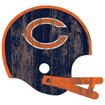 Chicago Bears - Distressed Helmet